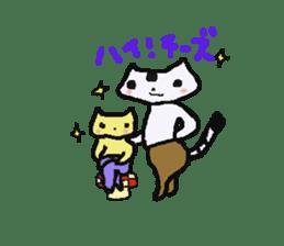 Lovely light blue cat sticker #7067852