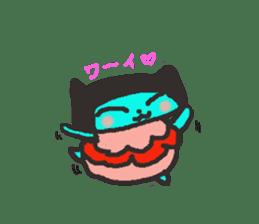 Lovely light blue cat sticker #7067854