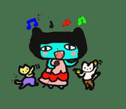 Lovely light blue cat sticker #7067857