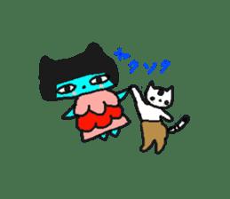 Lovely light blue cat sticker #7067860