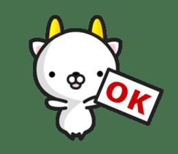 """GoatCat""""Horn-kitty"""" sticker #7069064"""