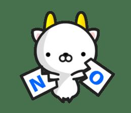 """GoatCat""""Horn-kitty"""" sticker #7069065"""