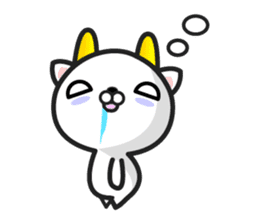 """GoatCat""""Horn-kitty"""" sticker #7069072"""