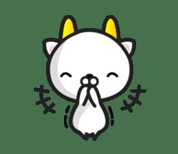 """GoatCat""""Horn-kitty"""" sticker #7069085"""