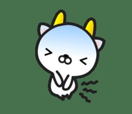 """GoatCat""""Horn-kitty"""" sticker #7069090"""