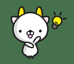 """GoatCat""""Horn-kitty"""" sticker #7069102"""