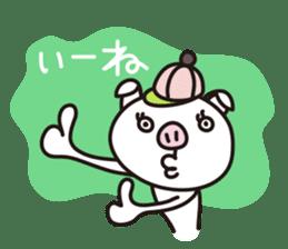 pig, sticker #7069837