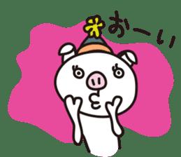 pig, sticker #7069839