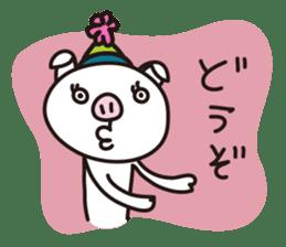 pig, sticker #7069858
