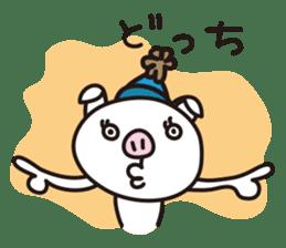 pig, sticker #7069864