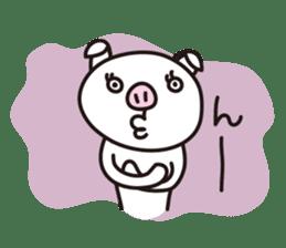 pig, sticker #7069866