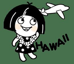 Warako will go on a trinp to Hawaii. sticker #7071529