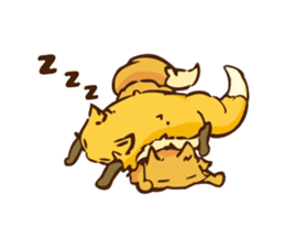 The story of Fox 1-2 (emotions) sticker #7076736