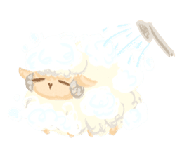 Little Fat Sheep sticker #7077885