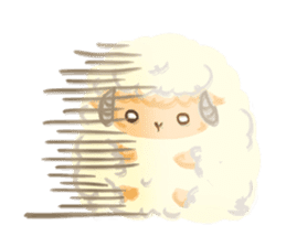 Little Fat Sheep sticker #7077899
