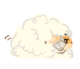 Little Fat Sheep sticker #7077912