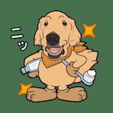Go!Go!Golden Retriever 2 ! sticker #7082685