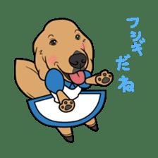 Go!Go!Golden Retriever 2 ! sticker #7082686