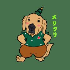 Go!Go!Golden Retriever 2 ! sticker #7082699