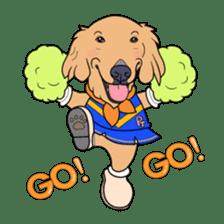 Go!Go!Golden Retriever 2 ! sticker #7082701