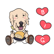 Go!Go!Golden Retriever 2 ! sticker #7082707