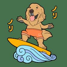 Go!Go!Golden Retriever 2 ! sticker #7082713