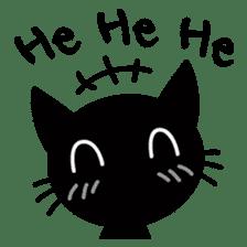 Sneaky Black Cat sticker #7083887