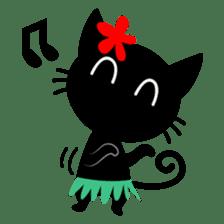 Sneaky Black Cat sticker #7083888