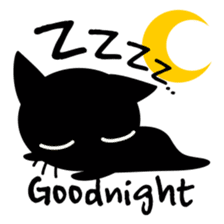 Sneaky Black Cat sticker #7083891