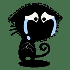 Sneaky Black Cat sticker #7083894