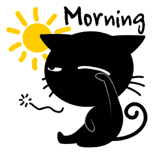 Sneaky Black Cat sticker #7083915