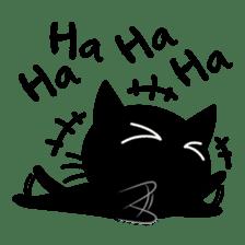 Sneaky Black Cat sticker #7083917