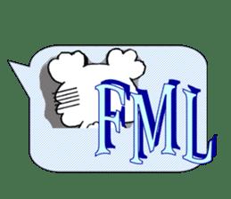 Internet slang of English(Meloo&Nero) sticker #7088260