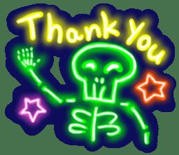 Skeleton sticker of neon. sticker #7088560