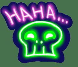 Skeleton sticker of neon. sticker #7088564