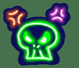 Skeleton sticker of neon. sticker #7088567