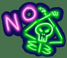 Skeleton sticker of neon. sticker #7088569