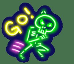 Skeleton sticker of neon. sticker #7088574