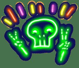 Skeleton sticker of neon. sticker #7088579