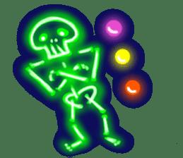 Skeleton sticker of neon. sticker #7088581
