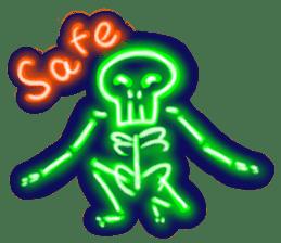 Skeleton sticker of neon. sticker #7088584