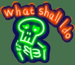 Skeleton sticker of neon. sticker #7088586