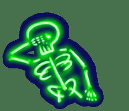 Skeleton sticker of neon. sticker #7088587