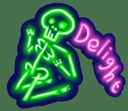 Skeleton sticker of neon. sticker #7088588