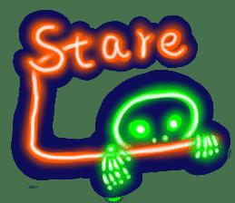 Skeleton sticker of neon. sticker #7088589