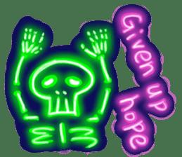 Skeleton sticker of neon. sticker #7088590