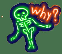 Skeleton sticker of neon. sticker #7088591