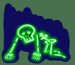 Skeleton sticker of neon. sticker #7088593