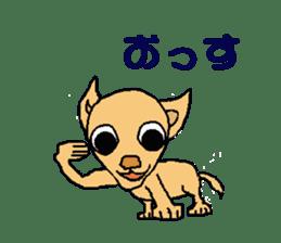 Chihua-tan of chihuahua sticker #7089565