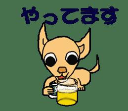 Chihua-tan of chihuahua sticker #7089590